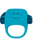 Key Halo Silicone Vibrating Ring Waterproof Robin Egg Blue