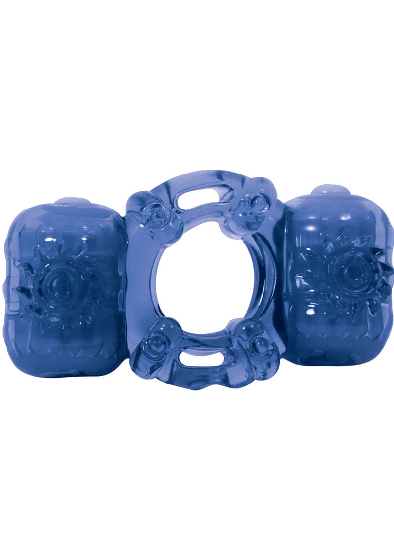 Partners Pleasure Ring Silicone Cock Ring Waterproof Blue