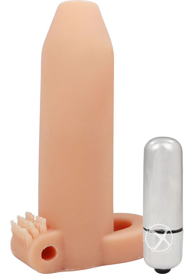 Doctors Love Deemun Penis Girth Enhancer Vibrating 6 Inch Flesh